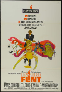 """In Like Flint (20th Century Fox, 1967). One Sheet (27"""" X 41""""). Action Comedy. Starring James Coburn, Lee J. Co..."""