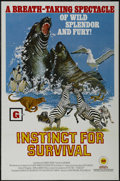"Movie Posters:Documentary, Instinct for Survival (Sun International, 1973). One Sheet (27"" X 41""). Documentary. Narrated by Alexander Scourby. Directed..."