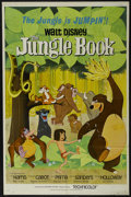 "Movie Posters:Animated, The Jungle Book (Buena Vista, 1967). One Sheet (27"" X 41""). Family. Directed by Wolfgang Reitherman. Starring the voices of ..."