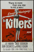 """Movie Posters:Crime, The Killers (Universal, 1964). One Sheet (27"""" X 41""""). Crime.Starring Lee Marvin, Angie Dickinson, John Cassavetes and Ronal..."""