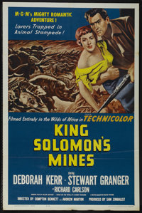 """King Solomon's Mines (MGM, R-1962). One Sheet (27"""" X 41""""). Adventure. Directed by Compton Bennett and Andrew M..."""