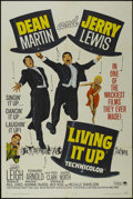 """Movie Posters:Comedy, Living It Up (Paramount, R-1965). One Sheet (27"""" X 41""""). Comedy. Starring Dean Martin, Jerry Lewis, Janet Leigh, Edward Arno..."""