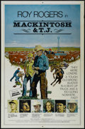 "Movie Posters:Western, Mackintosh and T.J. (Penland, 1975). One Sheet (27"" X 41""). Western. Starring Roy Rogers, Clay O'Brien, Andrew Robinson, Jam..."