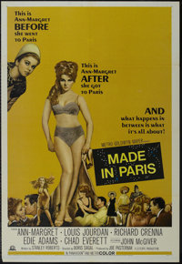 "Made in Paris (MGM, 1966). One Sheet (27"" X 41""). Comedy. Directed by Boris Sagal. Starring Ann-Margret, Louis..."