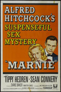 """Movie Posters:Mystery, Marnie (Universal, 1964). One Sheet (27"""" X 41""""). Thriller. Directed by Alfred Hitchcock. Starring Sean Connery, Tippi Hedren..."""