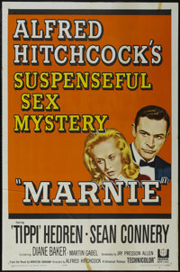 """Marnie (Universal, 1964). One Sheet (27"""" X 41""""). Thriller. Directed by Alfred Hitchcock. Starring Sean Connery..."""