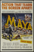 "Movie Posters:Adventure, Maya (MGM, 1966). One Sheet (27"" X 41""). Adventure. Starring ClintWalker, Jay North, I.S. Johar and Sonia Sahni. Directed b..."