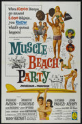 """Movie Posters:Cult Classic, Muscle Beach Party (American International, 1964). One Sheet (27"""" X41""""). Musical Comedy. Starring Frankie Avalon, Annette F..."""