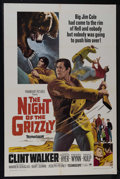 """Movie Posters:Adventure, The Night of the Grizzly (Paramount, 1966). One Sheet (27"""" X 41"""").Adventure. Directed by Joseph Pevney. Starring Clint Walk..."""