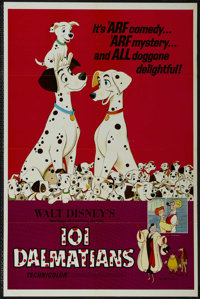 """One Hundred and One Dalmatians (Buena Vista, R-1972). One Sheet (27"""" X 41""""). Animation. Directed by Clyde Gero..."""