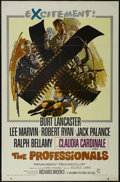 """Movie Posters:Western, The Professionals (Columbia, 1966). One Sheet (27"""" X 41""""). Western. Starring Burt Lancaster, Lee Marvin, Robert Ryan and Jac..."""