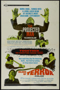 """Movie Posters:Horror, The Projected Man/Island of Terror Combo (Universal, 1967). One Sheet (27"""" X 41""""). Horror. Starring Mary Peach, Bryant Halli..."""
