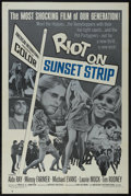 """Movie Posters:Drama, Riot on Sunset Strip (American International, 1967). One Sheet (27"""" X 41""""). Drama. Directed by Arthur Dreifuss. Starring Ald..."""
