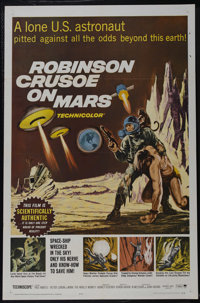 """Robinson Crusoe On Mars (Paramount, 1964). One Sheet (27"""" X 41""""). Science Fiction. Directed by Byron Haskin. S..."""