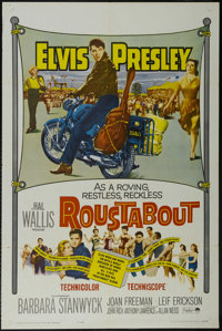 """Roustabout (Paramount, 1964). One Sheet (27"""" X 41""""). Musical. Starring Elvis Presley, Barbara Stanwyck, Joan F..."""