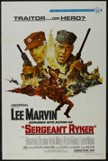 "Movie Posters:War, Sergeant Ryker (Universal, 1968). One Sheet (27"" X 41""). War.Starring Lee Marvin, Norman Fell, Peter Graves and Lloyd Nolan..."
