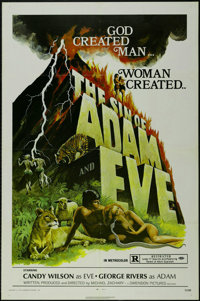"""The Sin of Adam and Eve (Dimension Films, 1972). One Sheet (27"""" X 41""""). Drama. Starring Candy Wilson and Georg..."""