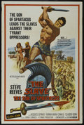 "Movie Posters:Adventure, The Slave (MGM, 1963). One Sheet (27"" X 41""). Adventure. StarringSteve Reeves, Jacques Sernas, Gianna Maria Canale, Claudio..."