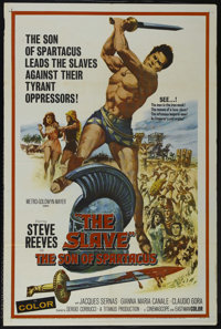 """The Slave (MGM, 1963). One Sheet (27"""" X 41""""). Adventure. Starring Steve Reeves, Jacques Sernas, Gianna Maria C..."""