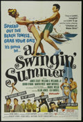 """Movie Posters:Musical, A Swingin' Summer (United Screen Arts, 1965). One Sheet (27"""" X 41""""). Rock Musical. Starring Raquel Welch, The Righteous Brot..."""