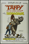 "Movie Posters:Adventure, Taffy and the Jungle Hunter (Allied Artists, 1965). One Sheet (27""X 41""). Adventure. Starring Jacques Bergerac, Manuel Padi..."