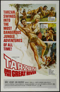 "Movie Posters:Adventure, Tarzan and the Great River (Paramount, 1967). One Sheet (27"" X41""). Adventure. Directed by Robert Day. Starring Mike Henry,..."