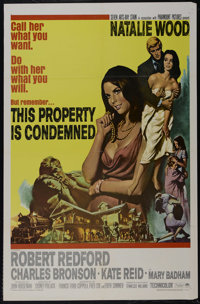 """This Property is Condemned (Paramount, 1966). One Sheet (27"""" X 41""""). Romantic Drama. Starring Natalie Wood, Ro..."""
