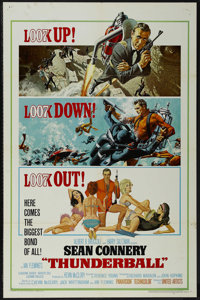 "Thunderball (United Artists, 1965). One Sheet (27"" X 41""). Action. Starring Sean Connery, Claudine Auger, Adol..."