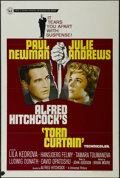 """Movie Posters:Hitchcock, Torn Curtain (Universal, 1966). One Sheet (27"""" X 41""""). Thriller.Directed by Alfred Hitchcock. Starring Paul Newman, Julie A..."""
