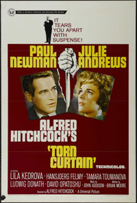 """Torn Curtain (Universal, 1966). One Sheet (27"""" X 41""""). Thriller. Directed by Alfred Hitchcock. Starring Paul N..."""