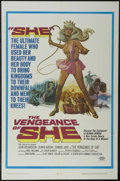 "Movie Posters:Adventure, The Vengeance of She (20th Century Fox, 1968). One Sheet (27"" X41""). Fantasy Adventure. Directed by Cliff Owen. Starring Jo..."
