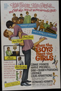 """Movie Posters:Musical, When the Boys Meet the Girls (MGM, 1965). One Sheet (27"""" X 41""""). Musical Comedy. Starring Connie Francis, Harve Presnell, He..."""