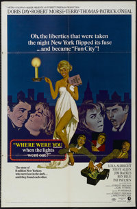"Where Were You When the Lights Went Out? (MGM, 1968). One Sheet (27"" X 41""). Comedy. Directed by Hy Averback..."