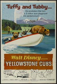 """Yellowstone Cubs (Buena Vista, 1963). One Sheet (27"""" X 41""""). Family Adventure. Narrated by Rex Allen, and star..."""