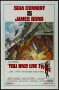 "Movie Posters:Action, You Only Live Twice (United Artists, 1967). One Sheet (27"" X 41"") Style A. Action. Starring Sean Connery, Akiko Wakabayashi,..."