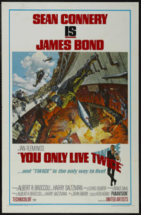 """You Only Live Twice (United Artists, 1967). One Sheet (27"""" X 41"""") Style A. Action. Starring Sean Connery, Akik..."""