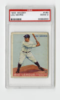 Baseball Cards:Singles (1930-1939), 1933 Goudey Lou Gehrig #160 PSA Good 2. Nice example of one ofGehrig's two entries in the wildly popular '33 Goudey issue....