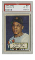 Baseball Cards:Singles (1950-1959), 1952 Topps Willie Mays #261 PSA VG-EX 4. One of Mays' mostsought-after cards is his entry in the 1952 Topps issue, his fir...