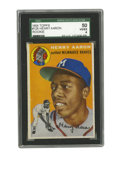 Baseball Cards:Singles (1950-1959), 1954 Topps Henry Aaron #128 SGC VG-EX 50. Nice graded example ofthe only recognized rookie card featuring the Home Run Kin...