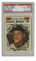 Baseball Cards:Singles (1960-1969), 1961 Topps Roger Maris All-Star #576 PSA NM-MT 8. Fresh off hisfirst of two consecutive AL MVP awards and poised to break ...