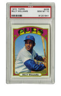 Baseball Cards:Singles (1970-Now), 1972 Topps Billy Williams #439 PSA Gem Mint 10. Gem Mint example ofHOFer Sweet Swingin' Billy Williams' entry in the 1972 ...