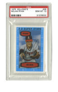 Baseball Cards:Singles (1970-Now), 1975 Kellogg's Nolan Ryan #26 PSA Gem Mint 10. Perfect example of the 3-D Super Stars cards that Kellogg's released in 1975...