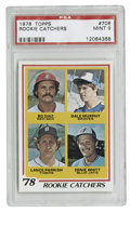 Baseball Cards:Singles (1970-Now), 1978 Topps Rookie Catchers #708 PSA Mint 9. Strong specimen of this important card, which contains the rookie of both Dale ...