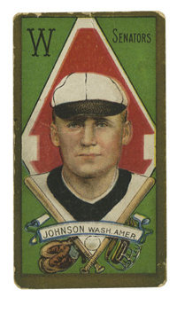 1911 T205 Gold Border Walter Johnson. Walter Johnson was considered to be the premier pitcher of his era, dominating hit...