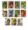 Autographs:Sports Cards, 1954 Topps Reprints Lot of 237, Signed by 94. This group ofreprints from the classic '54 Topps baseball issue reminds mod...