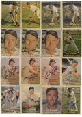 Autographs:Sports Cards, 1957 Topps Baseball Signed Cards Group Lot of 16. Each of the sixteen cards we see here from the 1957 Topps issue has a gre...