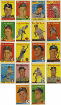 1958 Topps Baseball Signed Cards Group Lot of 234. Group of 234 cards from the 1958 Topps issue, all signed. Highlights...