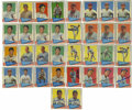 Autographs:Sports Cards, 1961 Fleer Signed Cards Group Lot of 34. From the 1961 Fleer issuewe present this group of 34 signed cards, consisting mos...