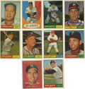 Autographs:Sports Cards, 1961 Topps Baseball Signed Cards Group Lot of 179. Group of 179cards from the 1961 Topps issue, all signed. Highlights inc...