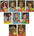 Autographs:Sports Cards, 1963 Topps Baseball Signed Cards Group Lot of 76. Group of 76 cardsfrom the 1963 Topps issue, all signed. Highlights incl...